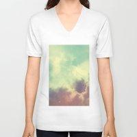 nebula V-neck T-shirts featuring Nebula 3 by ThoughtCloud