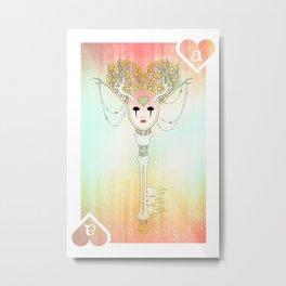 Anthrocemorphia - Ace of Hearts Metal Print
