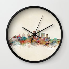 louisville kentucky skyline Wall Clock