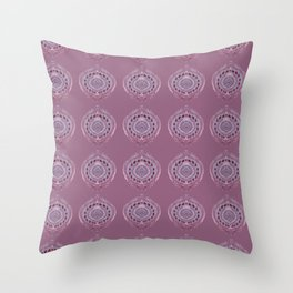Painted Circle in Violet Throw Pillow