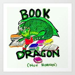 Book Dragon Art Print