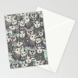 sweater mice mint Stationery Cards