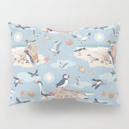 Coastal Birds Pattern Pillow Sham