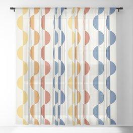 Gwynne Pattern - Vintage 70's Sheer Curtain