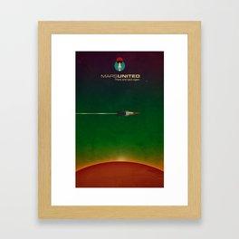 Mars United In Flight Framed Art Print