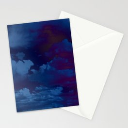 Clouds in a Stormy Blue Midnight Sky Stationery Cards