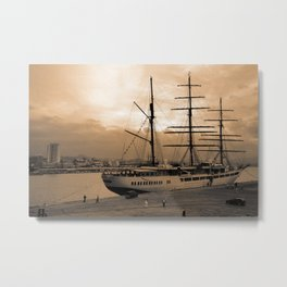 Sea Cloud II tall ship Metal Print