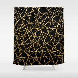 Golden Thread Shower Curtain