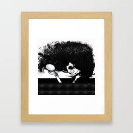 Mujer y Árbol Framed Art Print