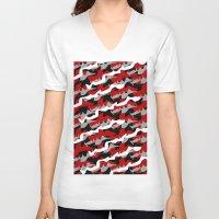 portland V-neck T-shirts featuring Portland Camo by Oyl Miller