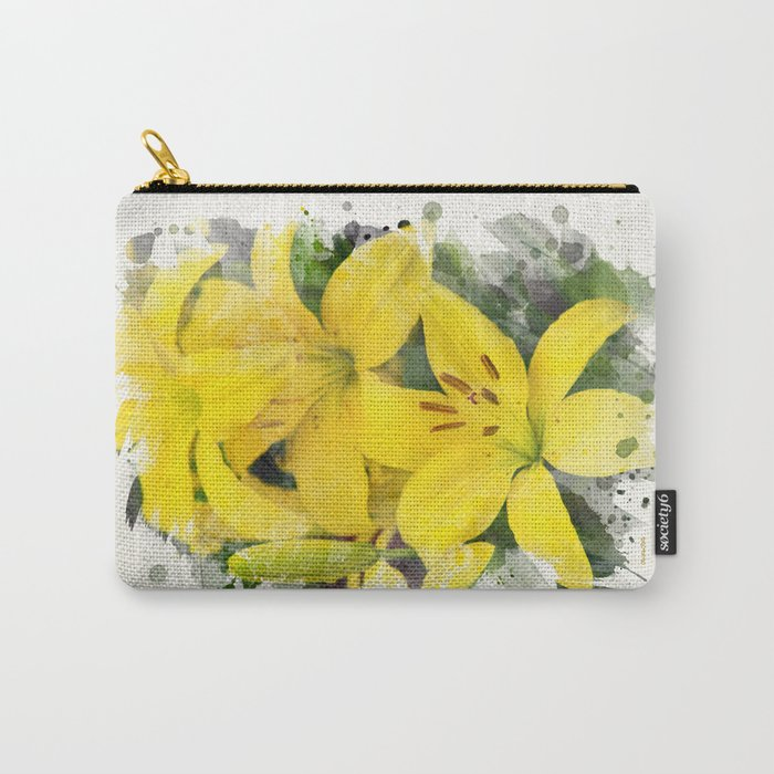 Lily Watercolor Art Carry-All Pouch