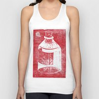 whisky Tank Tops featuring Ol' Whisky Bottle by Shane Haarer