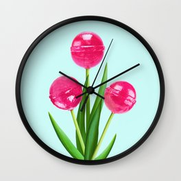 LOLLIPOP TULIPS Wall Clock