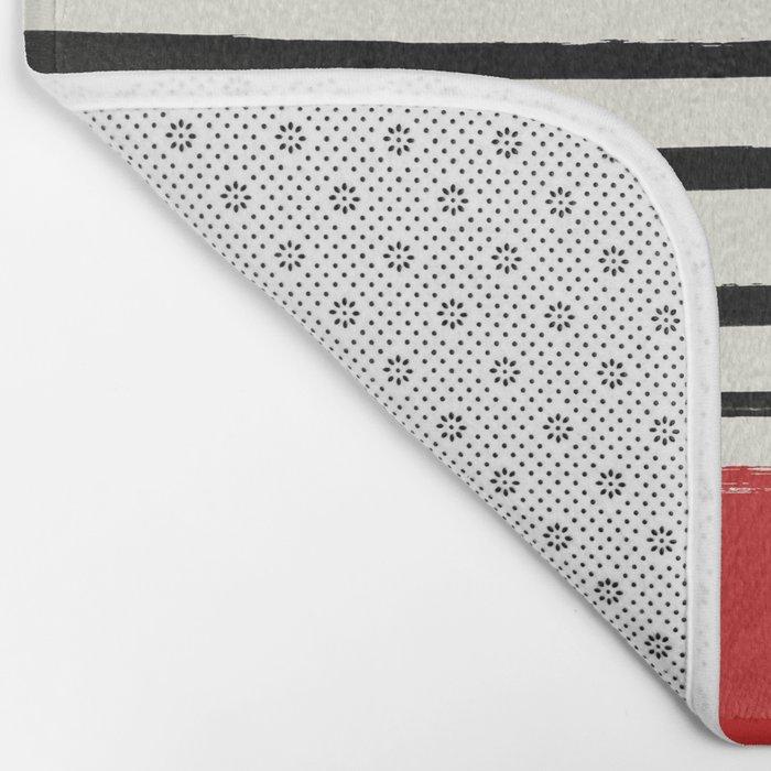 Red Chili x Stripes Bath Mat