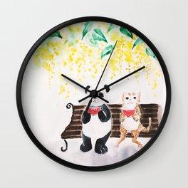 Summer / watercolor Wall Clock