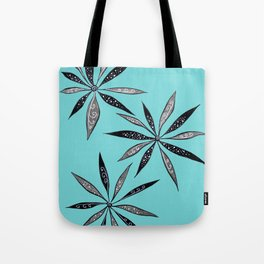 Elegant Thin Flowers With Dots And Swirls Tote Bag