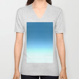 Sea blue Ombre Unisex V-Neck