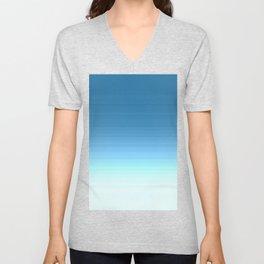 Sea blue Ombre Unisex V-Neck