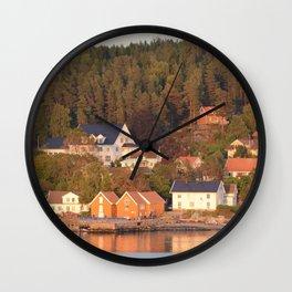 Norwegian Village Wall Clock