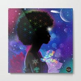 Cosmic Goddess Heart Chakra Metal Print