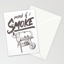 Mind If I Smoke Funny BBQ Smoking Barbecue Grilling Gifts T-Shirt Stationery Cards