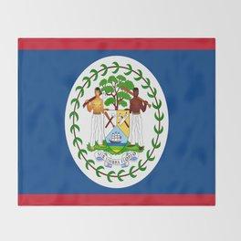 flag of belize-Belice, Belizean,Belize City,beliceno,Belmopan Throw Blanket