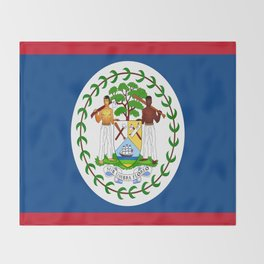 flag of belize-Belice, Belizean,Belize City,beliceno,Belmopan Throw Blanket