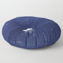 Zen sailing, ocean, stars Floor Pillow