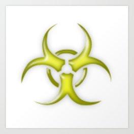 Yellow Biological Hazard Symbol Art Print
