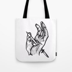 Hands of a killer  Tote Bag