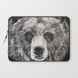 Grizzly bear, green Laptop Sleeve