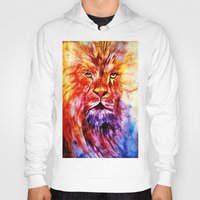 lions Hoodies featuring Lions Wisdom by Richard Harper