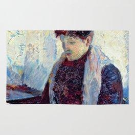 """Henri de Toulouse-Lautrec """"""""Femme in a café"""" Rug"""
