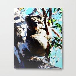Koala Noir Metal Print