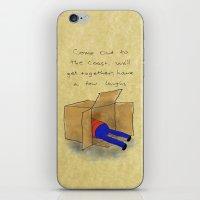 die hard iPhone & iPod Skins featuring Die Hard Box by Acrylic Pixel