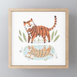 Little Tiger Framed Mini Art Print