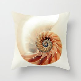 Shell of life Throw Pillow