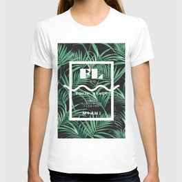 Exotic Leaves With Florida City Print T-shirt