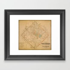 Civil War Washington D.C. Map Framed Art Print