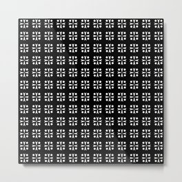 Optical pattern 82 black and white Metal Print