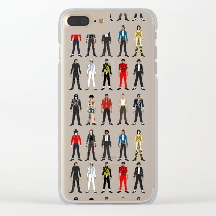 King MJ Pop Music Fashion LV Clear iPhone Case