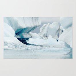 Iceberg blue lagoon Icelandic travel photography Rug