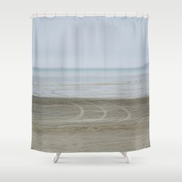 Airport on the beach Shower Curtain