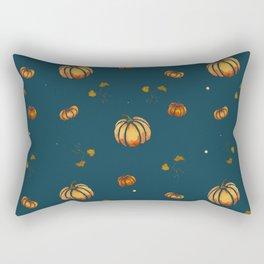 watercolor fall pumpkin pattern Rectangular Pillow