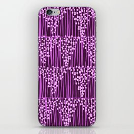 Dots + Stripes - Orchid iPhone Skin