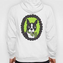 Boston Terrier Printmaking Art Hoody