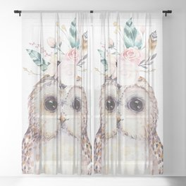 Forest Owl by Nature Magick Sheer Curtain