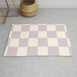 Lilac Check Pattern Rug