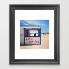 Beach Rentals Framed Art Print