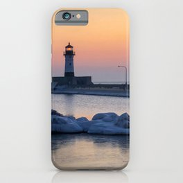 Sunrise at North Pier Lighthouse iPhone Case
